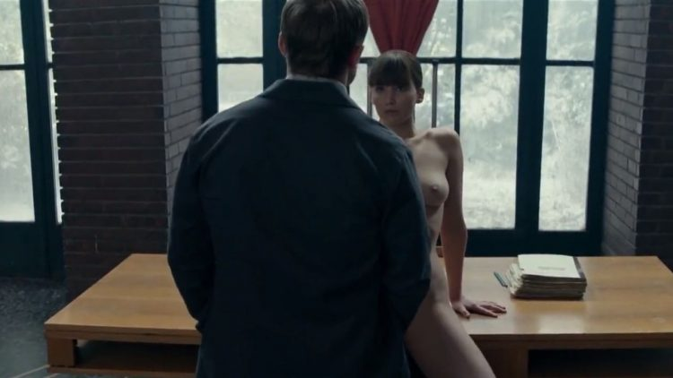 Red Sparrow uncensored nude & sex scenes